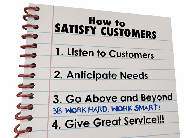 How to satisfy customers list